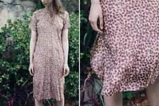 Vintage Silk with Oriental Collar Dress Asian Size 10-12