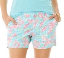 LILLY PULITZER Callahan Short in Lobstah Roll Lobster Print Shorts, Size 4 EUC