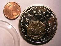 Medaille/Münze Europäische Währung 1ct vergoldet 2000D 1.1.2002 35mm 22,5g Göde