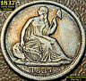 1837 LIBERTY SEATED SILVER HALF DIME - NO STARS, SMALL DATE (FLAT TOP 1)