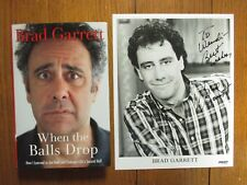 "BRAD  GARRETT  Signed  8 X 10 Black & White Photo- w/Book ""When  The Balls Drop"""