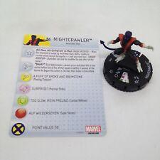Heroclix Uncanny X-Men set Nightcrawler #002 Common figure w/card!