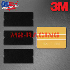 3M Gold Squeegee Applicator Tool Felt Edge Decal Tips x3 Vinyl Wrap DIY Kit Set