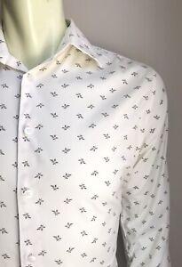 Theory Shirt, Prairie Print, Medium, Stretch Cotton, Excellent Condition