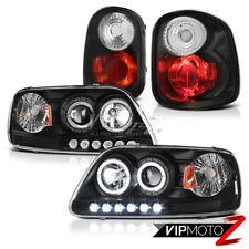 Dual Halo Headlights LH+RH Black Tail Lights 2001-2003 Ford F150 Flareside 5.4L