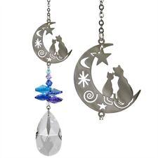 Crystal  Fantasy Cats on the Moon Suncatcher NEW