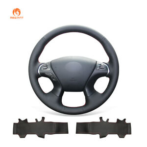 PU Leather Steering Wheel Cover for Infiniti JX35 M56 Q70 QX60 Nissan Pathfinder