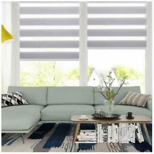 Horizontal Window Shade Blind Zebra Dual Roller Blinds Curtains,Easy to Install