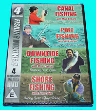 FISHING VOLUME 4 - CANAL, POLE, DOWNTIDE & SHORE FISHING - DVD - NEW & SEALED