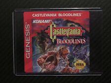 Castlevania Bloodlines Sega Genesis Replacement Game Label Sticker Precut