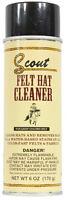 Scout Felt Hat Cleaner Spray Light Color Felt Hats Cleans & Removes Stains 6 OZ