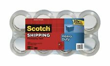 3m Scotch Clear Heavy Duty Shipping Packing Tape 8 Rolls Total 437 Yd 400 M