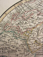 1813 DATED ANTIQUE MAP ~ EASTERN HEMISPHERE ~ EUROPE ASIA AFRICA CHINESE EMPIRE