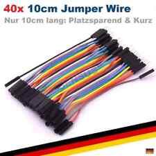 40p 10cm - Jumper Wire Steckbrücken Steckbrett Kabel male female männlich wei...