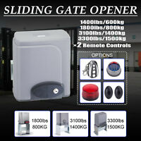 Automatic Sliding Gate Opener 1400lbs Electric Driveway Operator W/2 Remotes