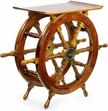 Handmade Sheesham Pirate Ship Wheel End Side Table Home Furniture Nautical Decor