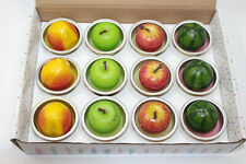 FRUIT CANDLE Home decoration perfumed mixed 12 pieces apple, melon, peach