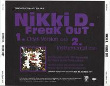 NIKKI D  Freak Out  Promo CD Single  1993   Epic  Flavor Unit Records