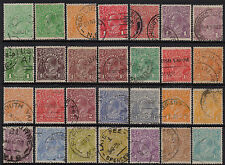 Australia - KGV SC wmk selection of 28 to 1/4d - Used