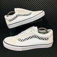 *NEW* Vans Authentic Old Skool Men Sizes Skate Shoes White Checkerboard
