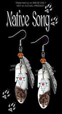 Native Song Wolf Earrings - Western  00006000 Americana - Montana Art Wolves Jewelry Gift*