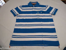 Men's Tommy Hilfiger Polo shirt stripe 7845157 Reef Turquoise XXL slim ft pckt