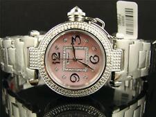 New Lady Jojino/Jojo/Joe Rodeo Pink Big Genuine 12 Diamond Watch MJ1050