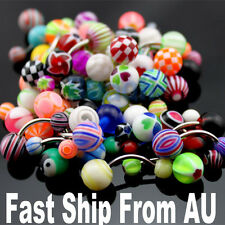 50X Mix Assorted PREMIUM Belly Navel Barbells Bar Rings BODY PIERCING JEWELRY