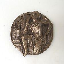 Bronzerelief Bronze Joseph Krautwald religiöse Volkskunst  ca. 13 cm