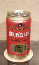 Retro Aluminum Bottom Opened Neuweiler Stay Tab Beer Can Huber Monroe Wisconsin