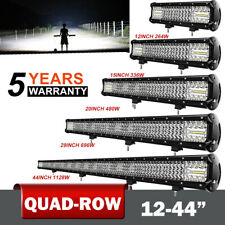 "12"" 15"" 20"" 29"" 44""  Straight LED Light Bar Spot Flood Offroad 4WD Driving Lamp"