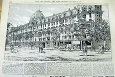 1873 NY Daily Graphic newspaper with engraving THE GRAND HOTEL Saratoga NEW YORK