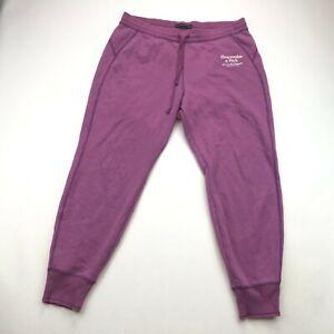 Abercrombie Fitch Womens Purple Fleece Slim Joggers Sweat Pants Large