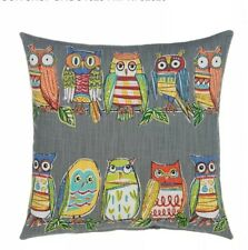 "Grouchy Goose Hoot Throw Pillow Cover 17"" x 171/2 Cotton Blend Front Velvet Back"