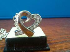 "Memorial Cremation Jewellery/Pendant/Urn/Keepsake for Ashes-""Diamond (cz) Heart"""