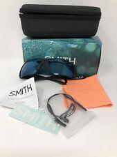 Smith Captain's Choice NEW Matte Black Polarized Blue Mirror ChromaPop
