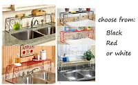 Wrought iron over the sink expandable kitchen bathroom storage shelf organizer