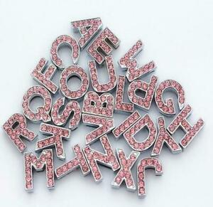 Personlised Rhinestone Dog Charms Clear Crystal Name Letters for Dog Collar 10mm