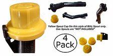 4-pk BLITZ Yellow Spout Cap fits self-venting gas can spout 900302 900092 900094