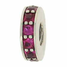 NEW Authentic Pandora Eternity Spacer Charm - Sterling Pink Red 791724SRU Retd