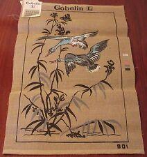 "Lovely Vintage Gobelin Needlepoint Canvas "" Geese in Flight """