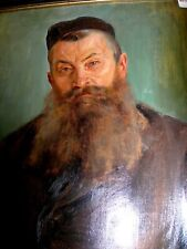 SIGNED & DATED WILHELM WACHTEL JEWISH RABBI  PAINTING OIL ON CANVAS JUDAICA