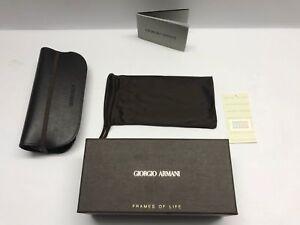Giorgio Armani Brown Sunglasses Eyeglass Soft Case Elastic Strap Glasses Pouch
