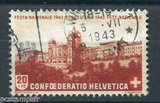 SUISSE SCHWEIZ, 1943, timbre 386, FETE NATIONALE, oblitéré, VF STAMP LANDSCAPE