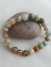 Amazonite & rose gold plated Bracelet 8mm Handmade