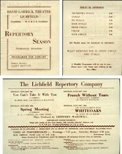 Original Unsigned 1950s Collectable Theatre Brochures
