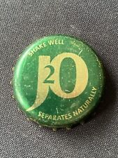 J2O Gold Version Mixer Bottle Top Crown Caps Used Lager UK