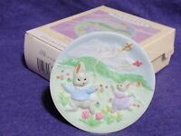 hallmark ornament Collector's Plate series #2 bunny Easter 1995 QEO8219 MIB