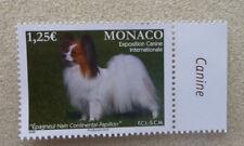 2016 MONACO CANINE EXPO PAPPILON DOG 1,25€ MINT STAMP