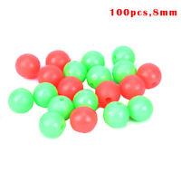 100pc/bag Fishing Floats Beads 2 colors Luminous Balls For Night Plastic 8mm  wr